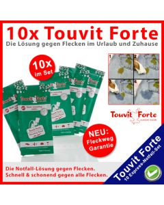10x Touvit Forte Express-Flecken-Killer-Tücher im Set